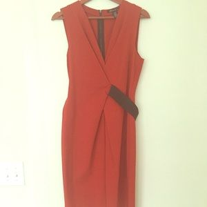 Kenneth Cole dress, M Zip-Back Dress orange/black